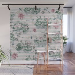 Water Lily Lake Wall Mural