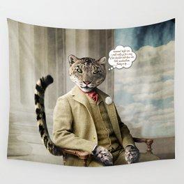 Sir Sebastian Snow Leopard Wall Tapestry