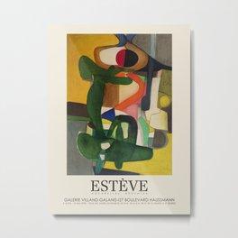 Maurice Estève. Exhibition poster for Galerie Villand et Galanis in Paris, 1958. Metal Print