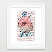 fat Framed Art Prints featuring FAT by PranitaKocharekar