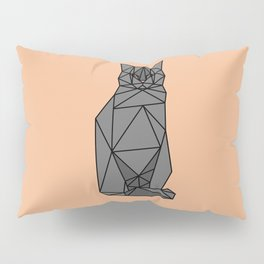 Geometric Cat Pillow Sham