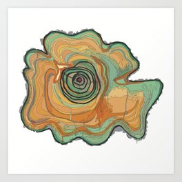 Tree Stump Series 3 - Illustration Art Print