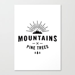 Mountains & Pine trees Canvas Print