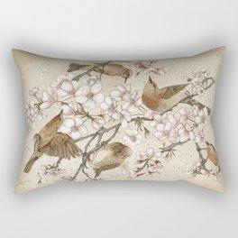 Too many birds Rectangular Pillow