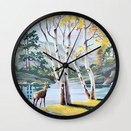 Paint by Numbers Deer Woodland Scene Wall Clock