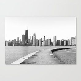 Black & White Chicago Photograph Canvas Print
