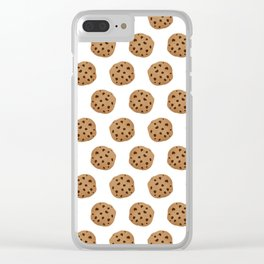 Chocolate Chip Cookies Pattern Clear iPhone Case