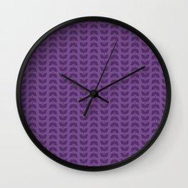 Royal Lilac Leaves Wall Clock