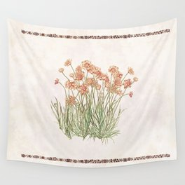 Flowering Scabiosa Wall Tapestry