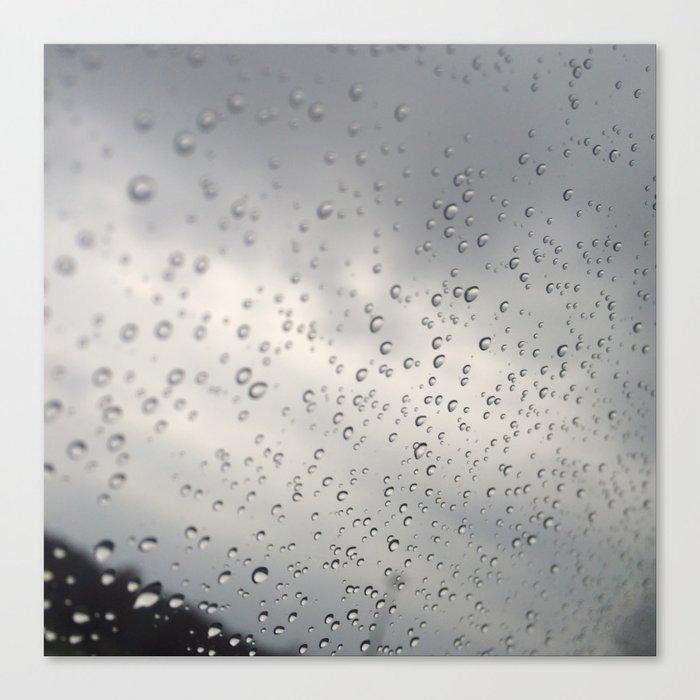 windshield ran Canvas Print