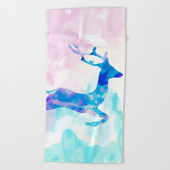 Abstract Deer Beach Towel