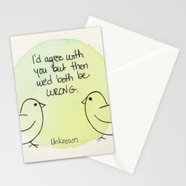 Both Wrong Stationery Cards