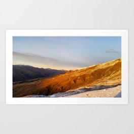 Cardrona Valley Rising Sun Art Print