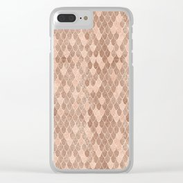 Mermaid Rose Gold Clear iPhone Case
