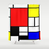 mondrian Shower Curtains featuring Mondrian by Fine2art