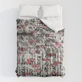File and Soul Not Found (P/D3 Glitch Collage Studies) Comforters