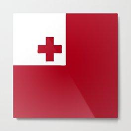 Tonga flag emblem Metal Print