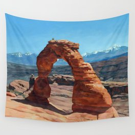delicate arch Wall Tapestry
