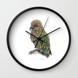 New Zealand Kea Wall Clock