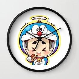 Doraemon chibi cosplay Wall Clock