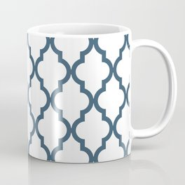 Dusky Blue Moroccan Pattern Coffee Mug