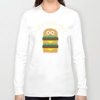 fleetwood mac Long Sleeve T-shirts featuring Discounting Calories by David Olenick