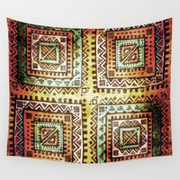 quilt Wall Tapestries featuring Ancient Quilt by Robin Curtiss