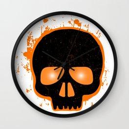 SCARY HALLOWEEN SKULL HEAD Wall Clock