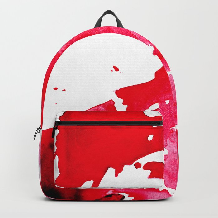 The One Who Came by Water and Blood. Watercolor Red Wave Backpack