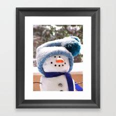 Snow Cute Handmade Snowman Framed Art Print