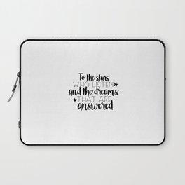 to the stars who listen (MUG LEFT) Laptop Sleeve