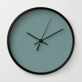 Dark Pastel Blue Green Solid Color Pairs W/ Behr's 2020 Forecast Trending Color Dragonfly PPU12-03 Wall Clock