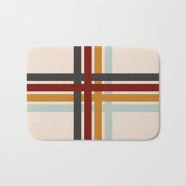 Colored Retro Cross Bath Mat