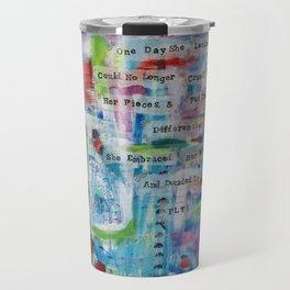 """Rearranged"" Original Mixed Media Acrylic Painting by Toni Becker, Artfully Healing Travel Mug"