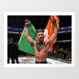 FAN ART Conor McGregor UFC CHAMP Art Print