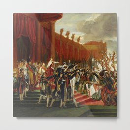 """Jacques-Louis David """"The distribution of the eagle standards"""" Metal Print"""