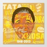 mandela Canvas Prints featuring Mandela by Gavin Morley