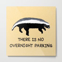 There is No Overnight Parking Metal Print