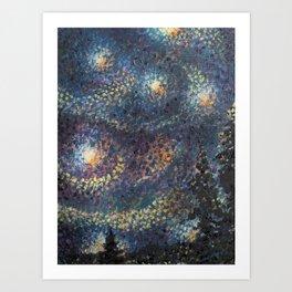 Starry Night 3 of 3 Art Print
