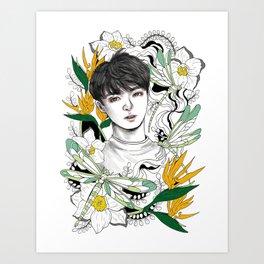 BTS Jungkook Art Print