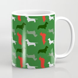 """Mistletoe"" - Christmas Dachshund Pattern Coffee Mug"
