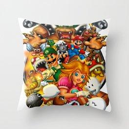 Super Mario Bros. Battle Throw Pillow