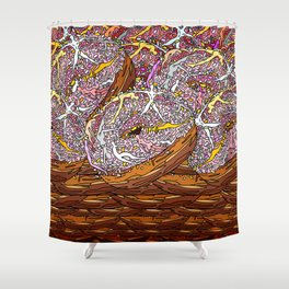Kamasutra Donut Party Love Parade Shower Curtain