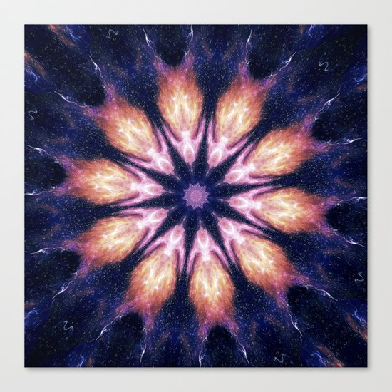 Lightening Mandala Canvas Print