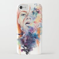 ink iPhone & iPod Cases featuring this thing called art is really dangerous by agnes-cecile