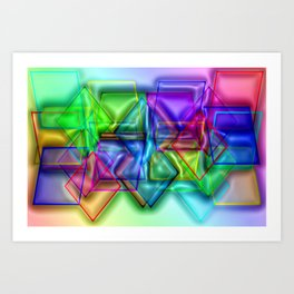Play with transparent plastic ... Art Print
