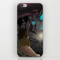 shadow of the colossus iPhone & iPod Skins featuring Shadow of the Colossus by MetroidHugs