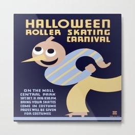 Vintage poster - Halloween Roller Skating Carnival Metal Print