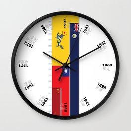 Timeline of Hongkong History Wall Clock