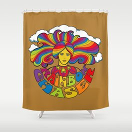 Rainbow Chaser Shower Curtain